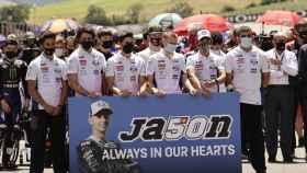 El homenaje a Jason Dupasquier durante el Gran Premio de Italia de 2021