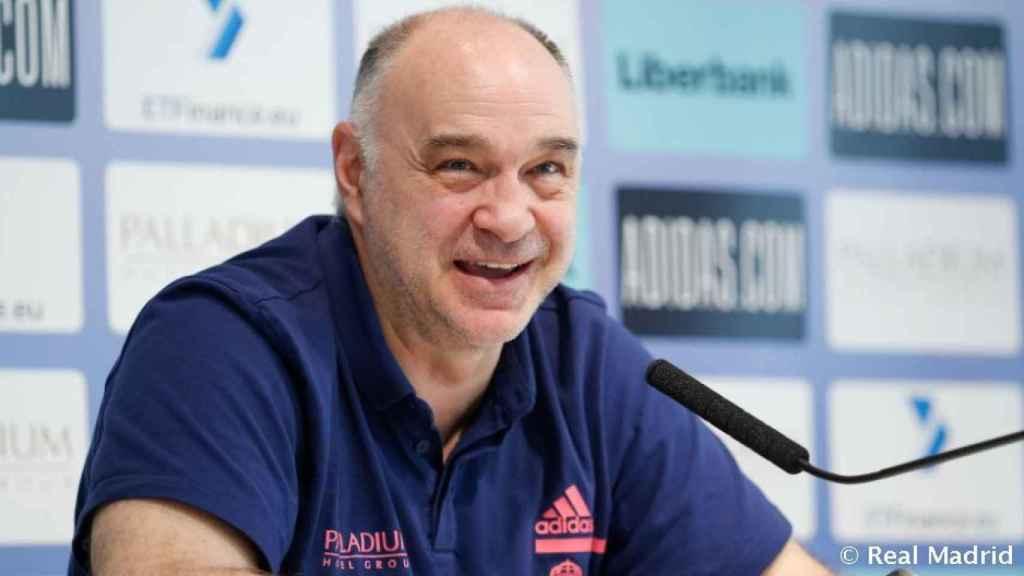 Pablo Laso, en rueda de prensa de la Liga Endesa