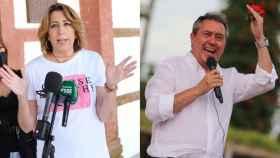 Los candidatos en las primarias del PSOE andaluz, Susana Díaz y Juan Espadas.