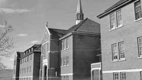 Imagen de archivo de la antigua residencia escolar de Kamloops.