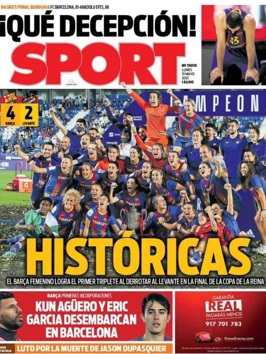 La portada del diario SPORT (31/05/2021)