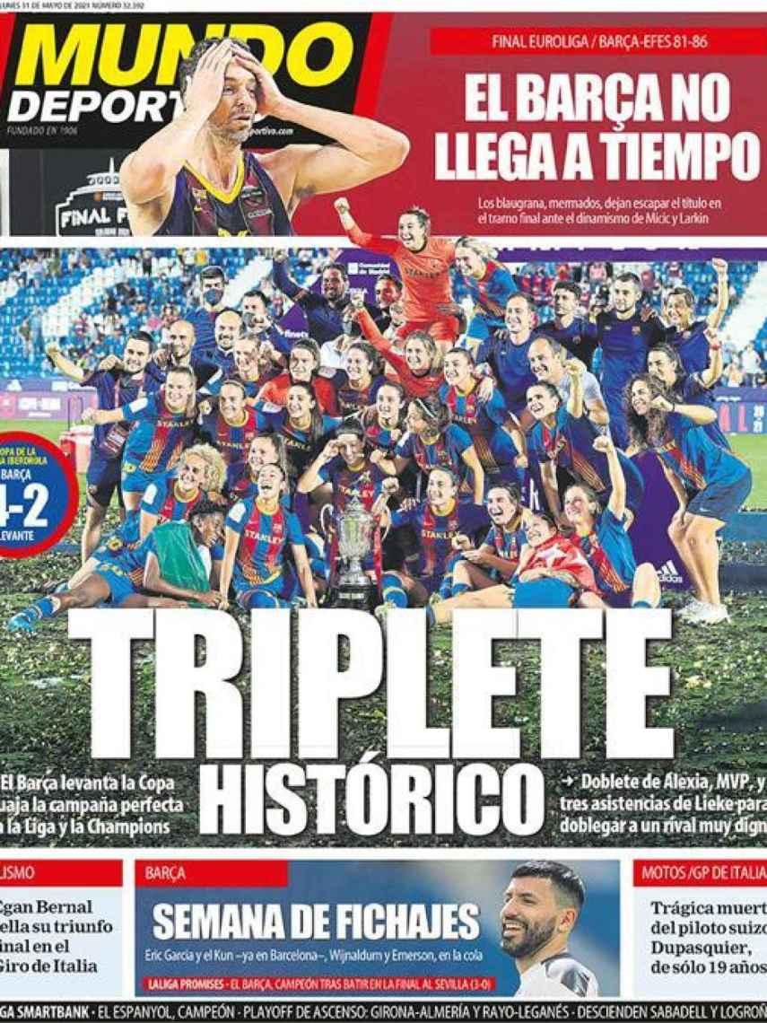 La portada del diario Mundo Deportivo (31/05/2021)