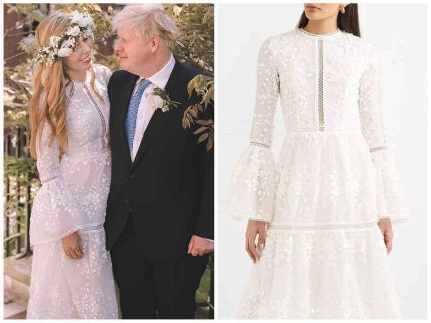 El vestido de novia está firmado por Costarellos Bridal y cuesta más de 3.000 euros.