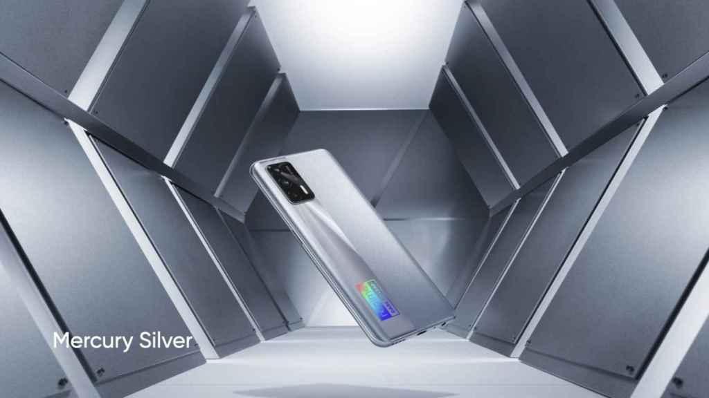 realme X7 Max 5G plateado