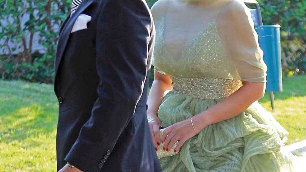 Fidel Albiac y Rocío Carrasco, en la boda de Carmen Borrego.