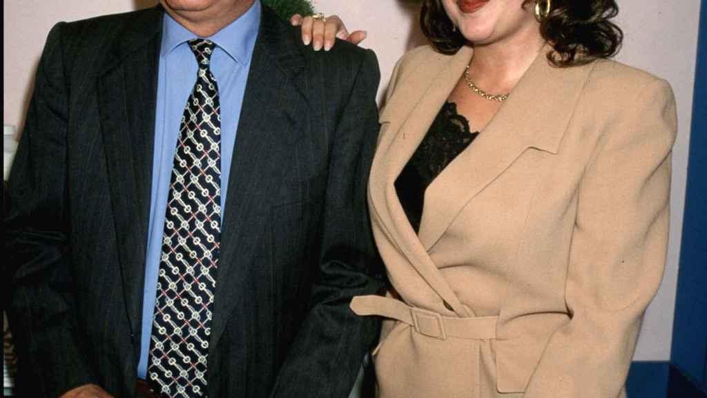 Pedro Carrasco junto a Raquel Mosquera, en una imagen de archivo.