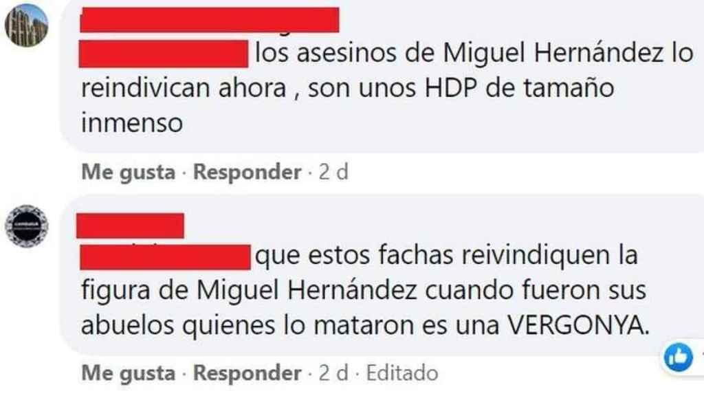 Insultos permitidos por la cadena pública autonómica À Punt en sus redes sociales.