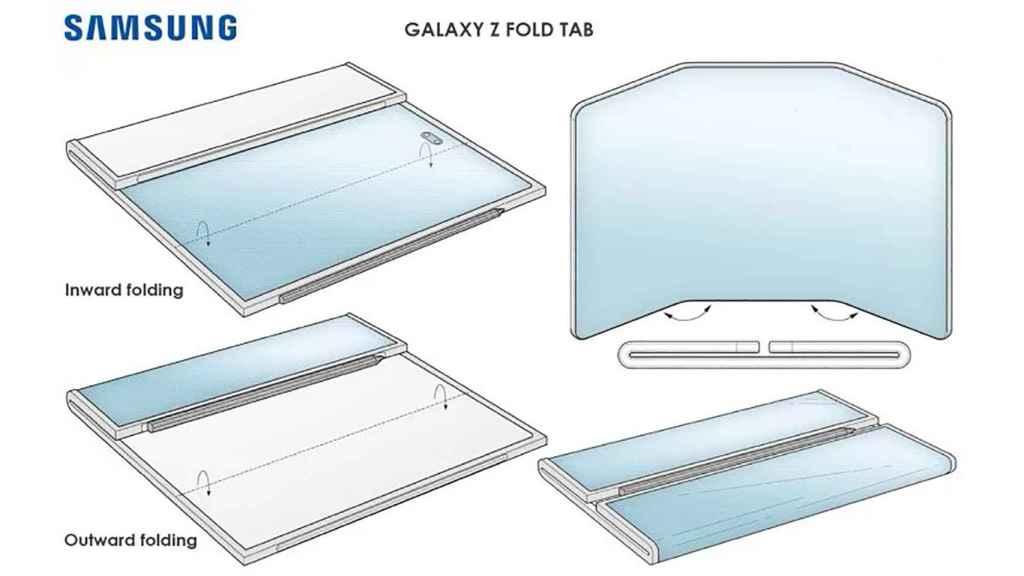 Patente del posible Galaxy Z Fold Tab