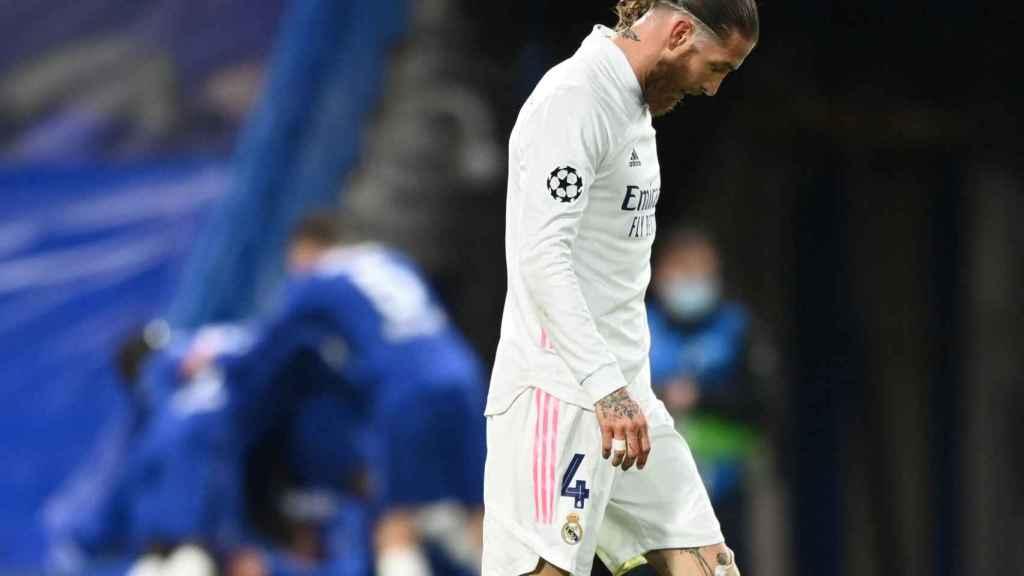Sergio Ramos, durante un partido de esta temporada con el Real Madrid
