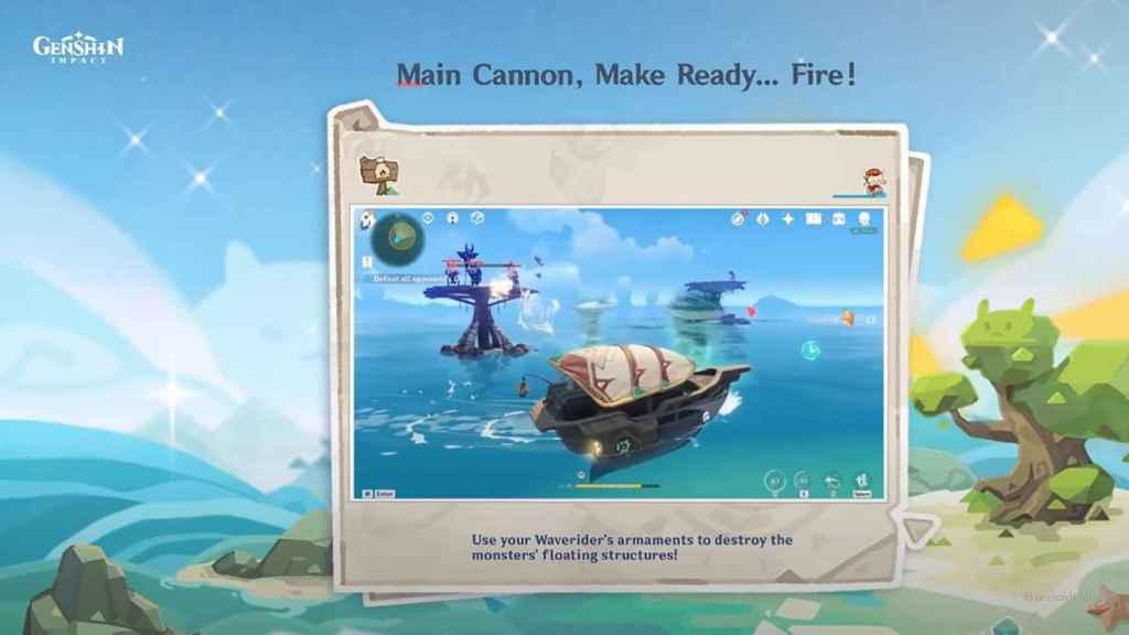 La barcaza en Genshin Impact