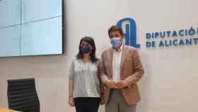 Carlos Mazón y Julia Parra, tras la rueda de prensa sobre las negociaciones con la colección Thyssen.