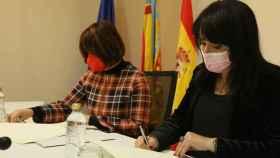 La vicepresidenta primera y diputada de Transparencia, Julia Parra, en una rueda de prensa.