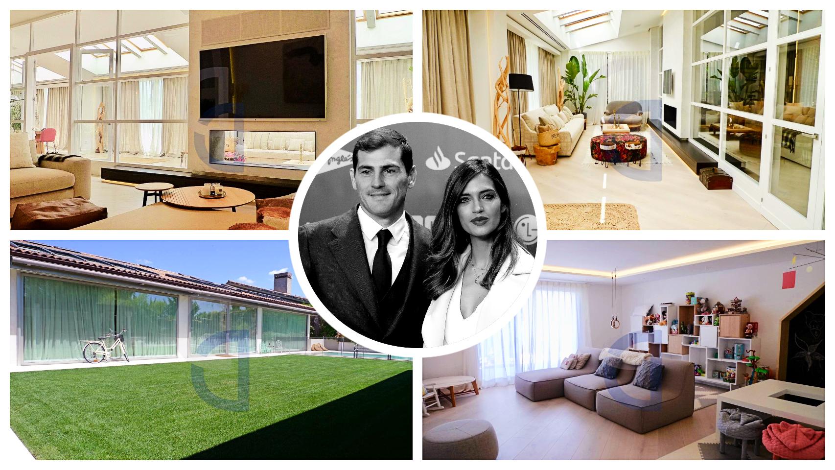 Sara Carbonero e Iker Casillas y algunos rincones de su casa de La Finca.