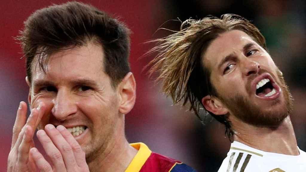 Leo Messi y Sergio Ramos, en un fotomontaje