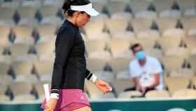 Garbiñe Muguruza, en Roland Garros 2021