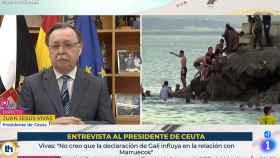 Juan Jesús Vivas, presidente de Ceuta, en TVE.