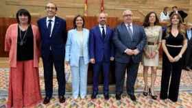 Mesa de la Asamblea de Madrid en 2019, con 2 miembros del PP, 2 de Cs, 2 del PSOE y uno de Vox./