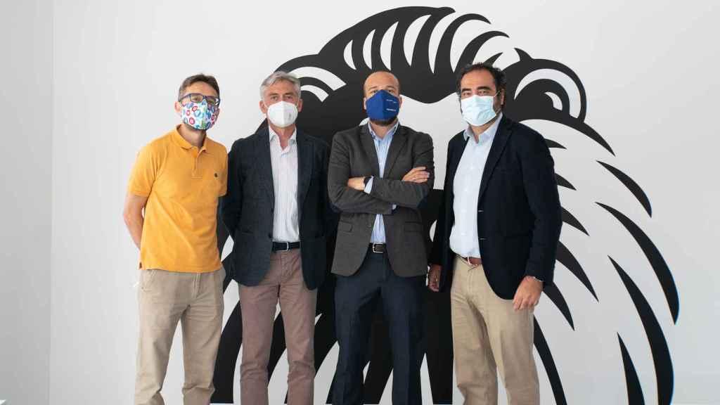 Fernando Carrasco (CSIC-UAM), Dr. Luciano Cerrato (Ruber), Javier Salazar (Eurofins Megalab) y  Nacho Esteban (24genetics), en la redacción de EL ESPAÑOL.