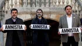 Jordi Sànchez, Jordi Cuixart y Oriol Junqueras.