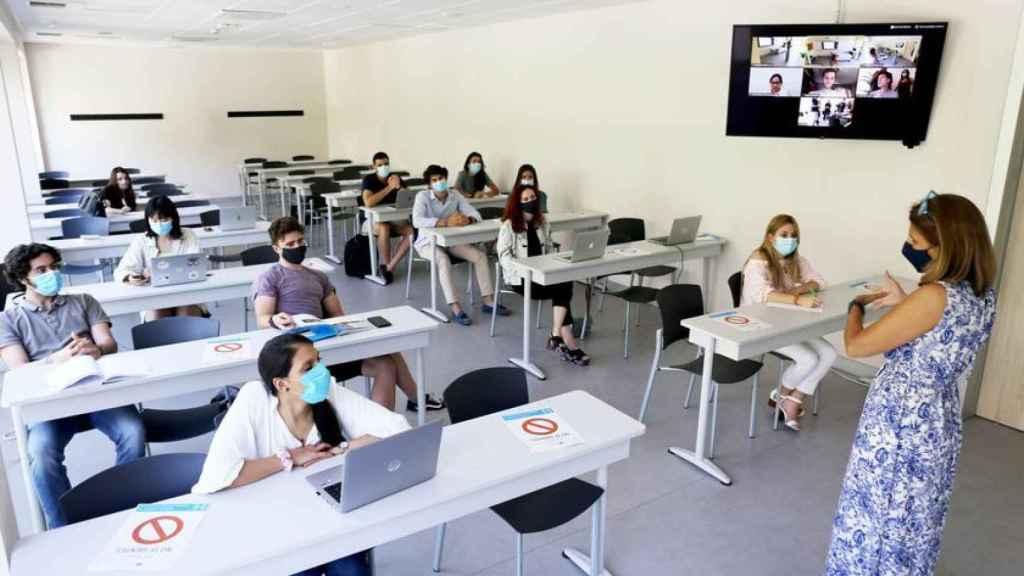 Un aula de la Universidad CEU-San Pablo.