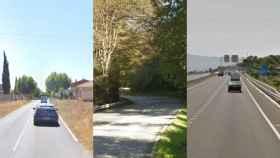 Los lugares donde han ocurrido los tres atropellos mortales.