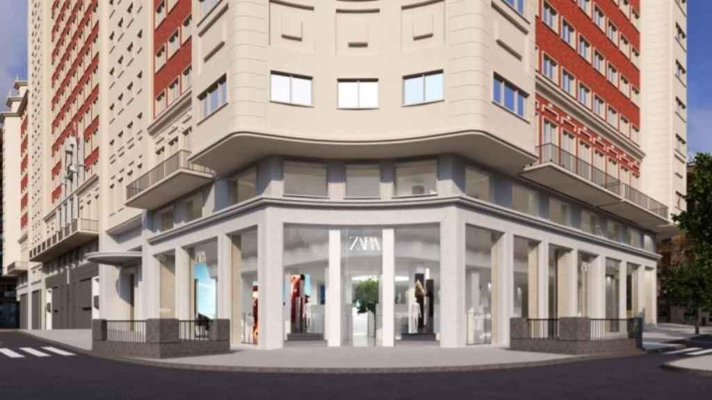 Recreación de la tienda de Zara en el Edificio España.