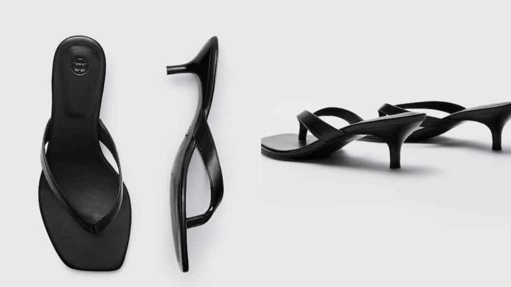 Eugenia Silva has opted for basic low-heeled sandals by Massimo Dutti.
