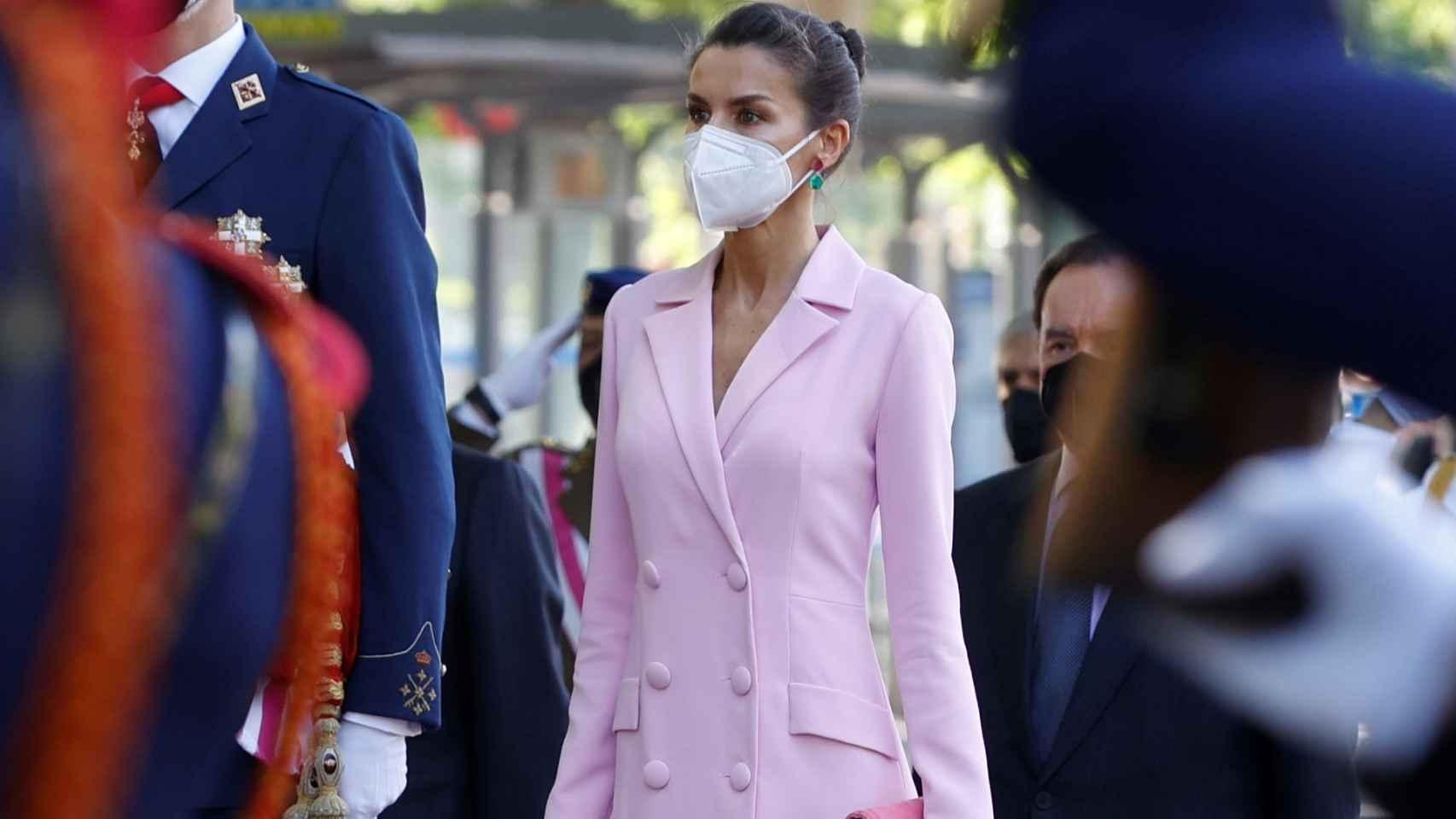 Abrigo-blazer rosa