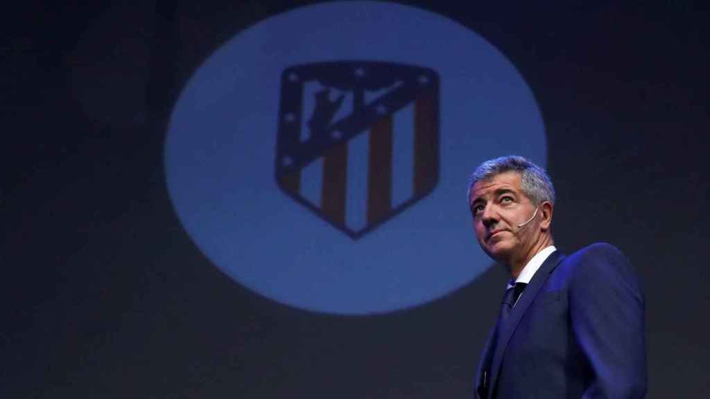 Miguel Ángel Gil Marín, consejero delegado del Atlético de Madrid, durante un acto con el club