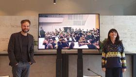 Josep Vicent y Julia Parra en la presentación de Festiva, la temporada del ADDA.