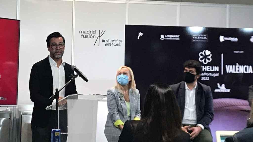 El chef Quique Dacosta en la presentación de la gala Michelín España/ Portugal 2022