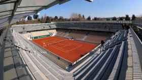 Una vista de la nueva pista Simonne Mathieu en las instalaciones de Roland Garros de París