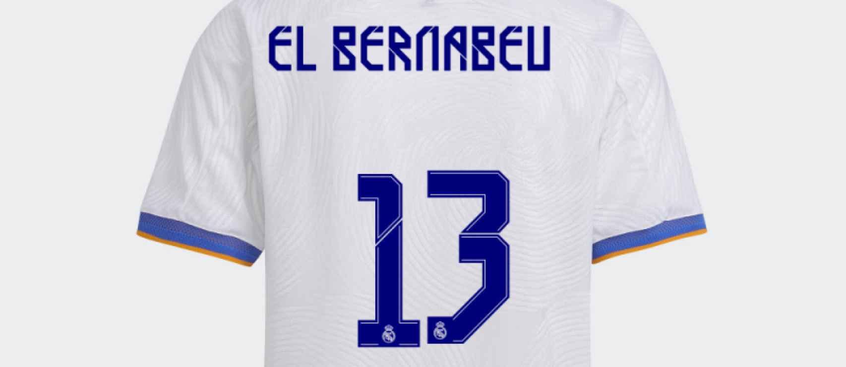 Personaliza la camiseta del Real Madrid 2021/2022 con tu nombre y número