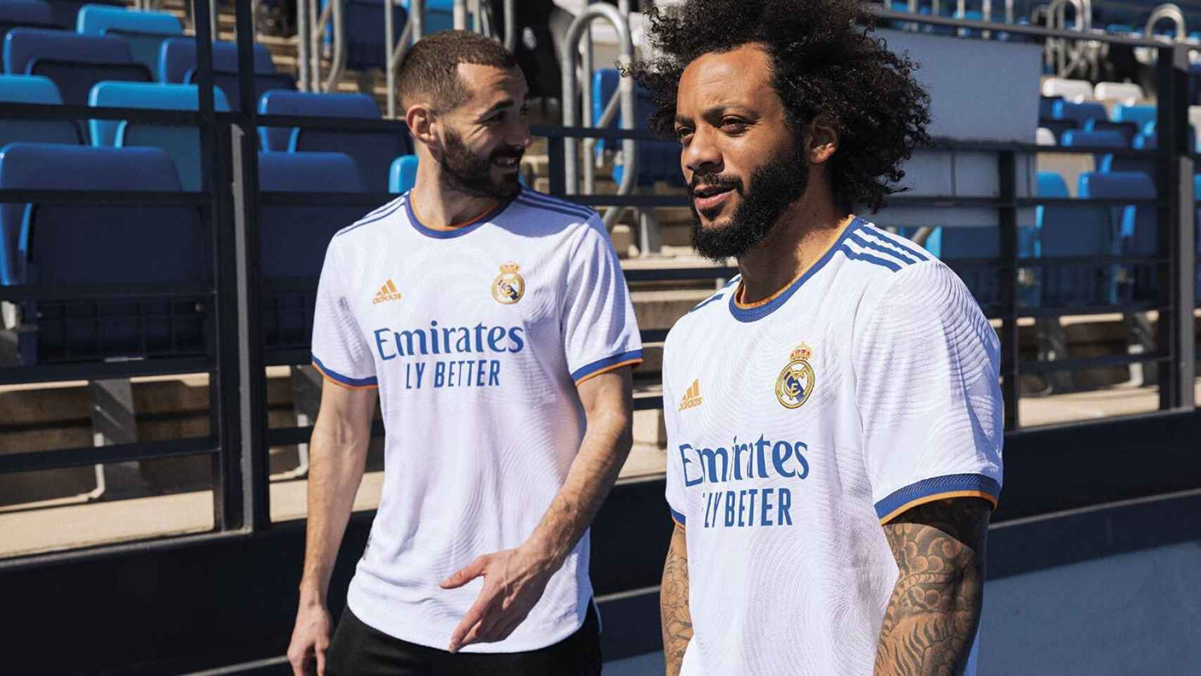Marcelo, con la nueva equipación del Real Madrid