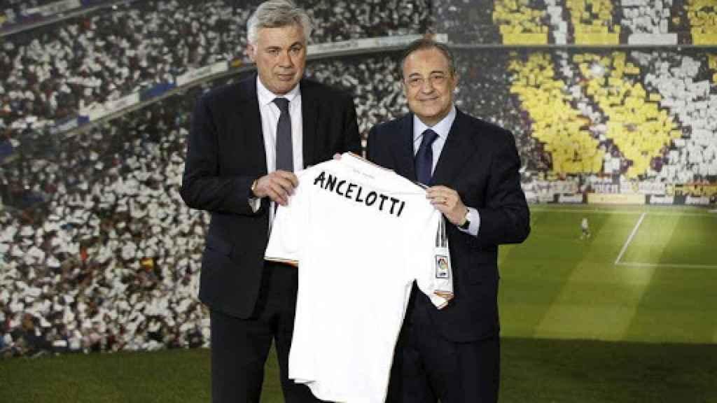Presentación de Ancelotti con el Real Madrid en 2013