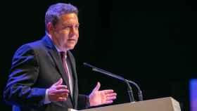 Emiliano García-Page, presidente de Castilla-La Mancha, en una imagen de este lunes, Día de la Región