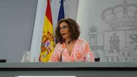 María Jesús Montero, ministra de Hacienda y portavoz, en rueda de prensa tras el Consejo de Ministros.