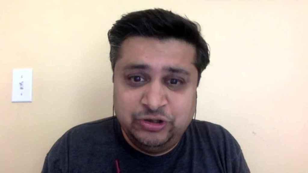 Anuj Adhiya, autor de 'Growth Hacking [crecimiento acelerado] for Dummies', durante la conversación vía Zoom.