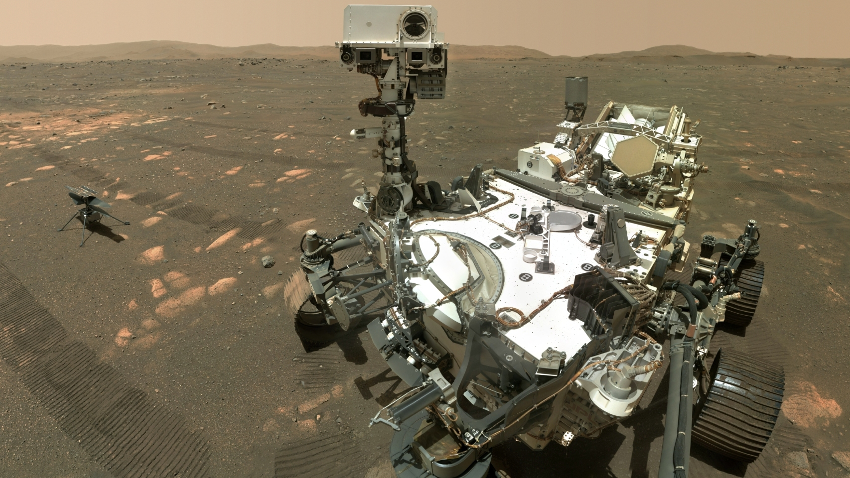 Perseverance e Ingenuity en Marte
