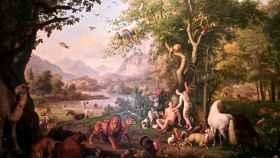 Adán y Eva en el paraíso terrenal, de Johann Wenzel Peter.
