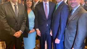 Albert Rivera junto a los cuatro presidentes de parlamentos autonómicos que tiene Cs, uno de ellos el murciano Alberto Castillo.