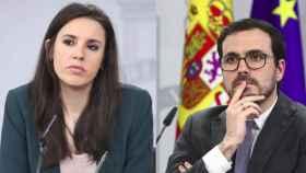Irene Montero y Alberto Garzón en un fotomontaje.