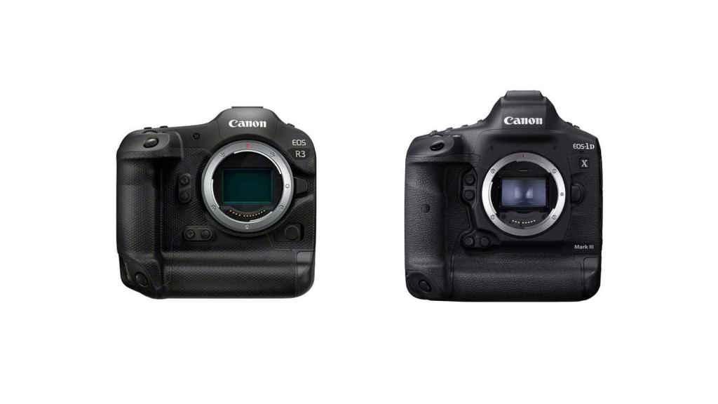 Comparación entre la EOS R3 (izquierda) y la 1DX Mark III (derecha)
