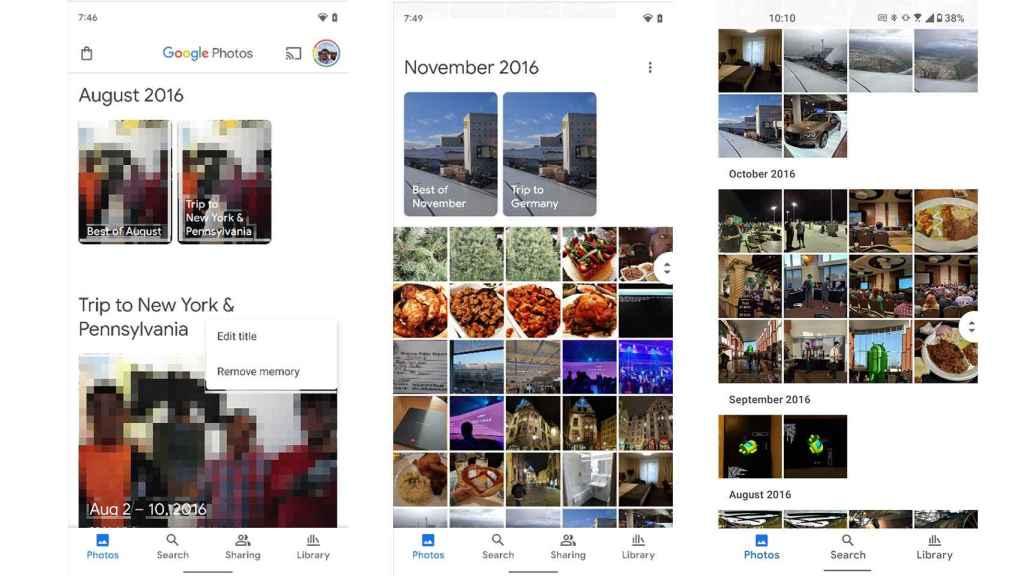 Google Fotos con Material You.