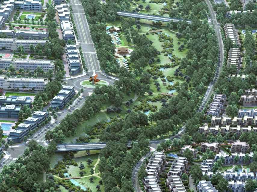 Imagen del futuro Parque Central en Valgrande.