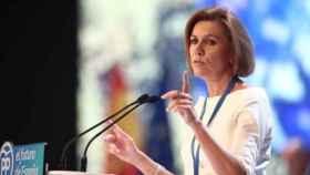 La exministra y ex secretaria general del PP, María Dolores de Cospedal, en una imagen de archivo. EP