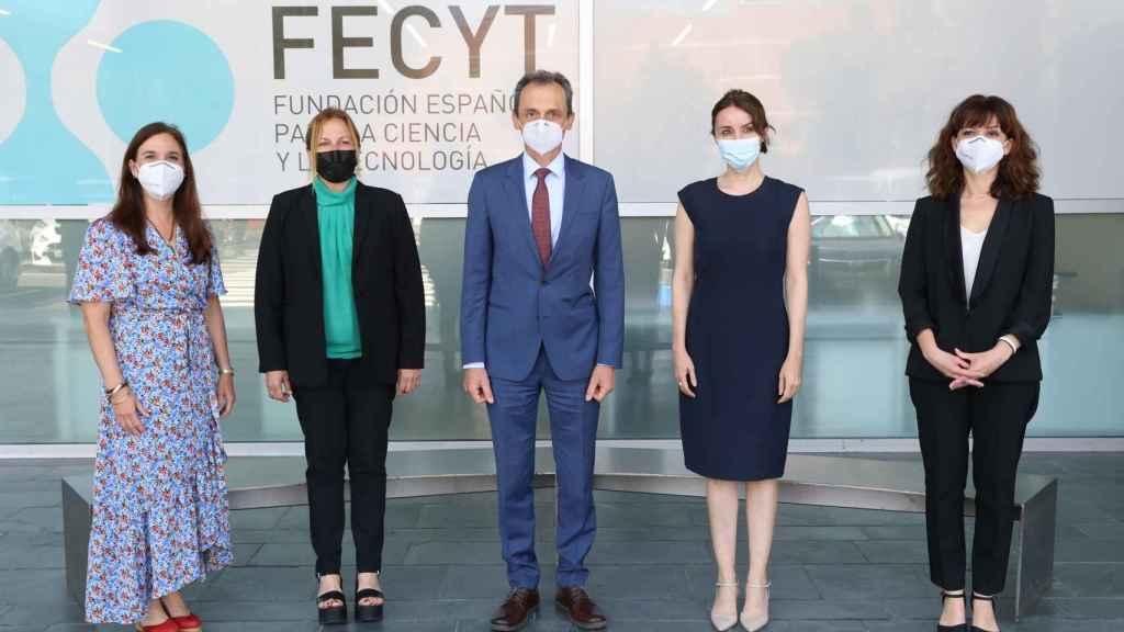 Pedro Duque en la presentación de la 10ª Encuesta de Percepción Social de la Ciencia de FECYT