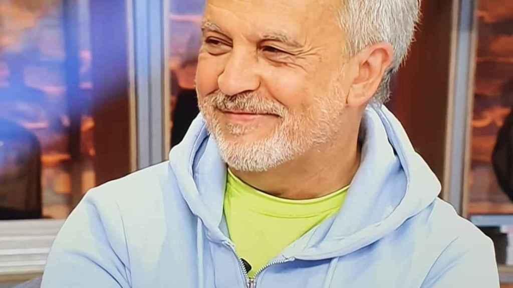 Enrique del Pozo durante su regreso a Telecinco, al espacio 'Viva la vida'.