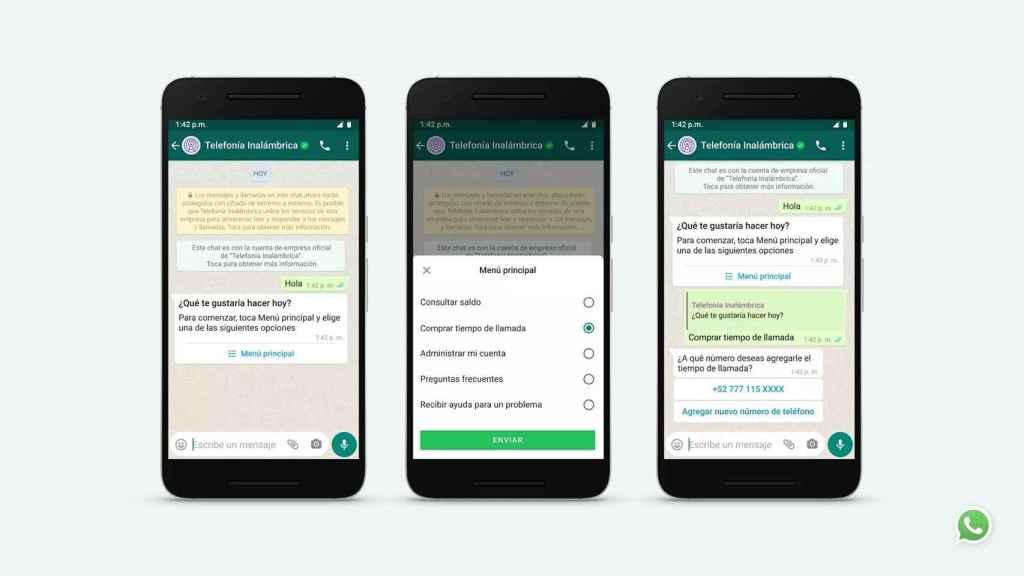 Nuevas opciones para WhatsApp Business.