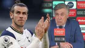 Gareth Bale y Carlo Ancelotti, en un fotomontaje